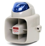 Amseco Armored Siren Strobe Combination-Blue Strobe